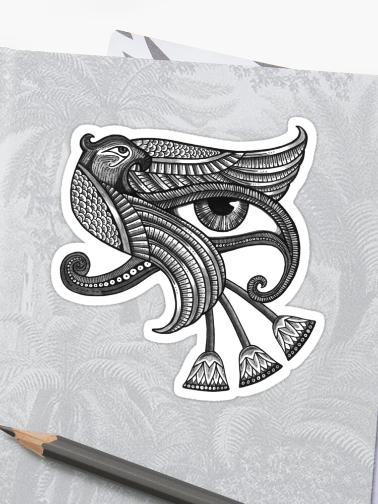 \u0027Eye of Horus (Tattoo Style Tee)\u0027 Sticker by Anita Inverarity