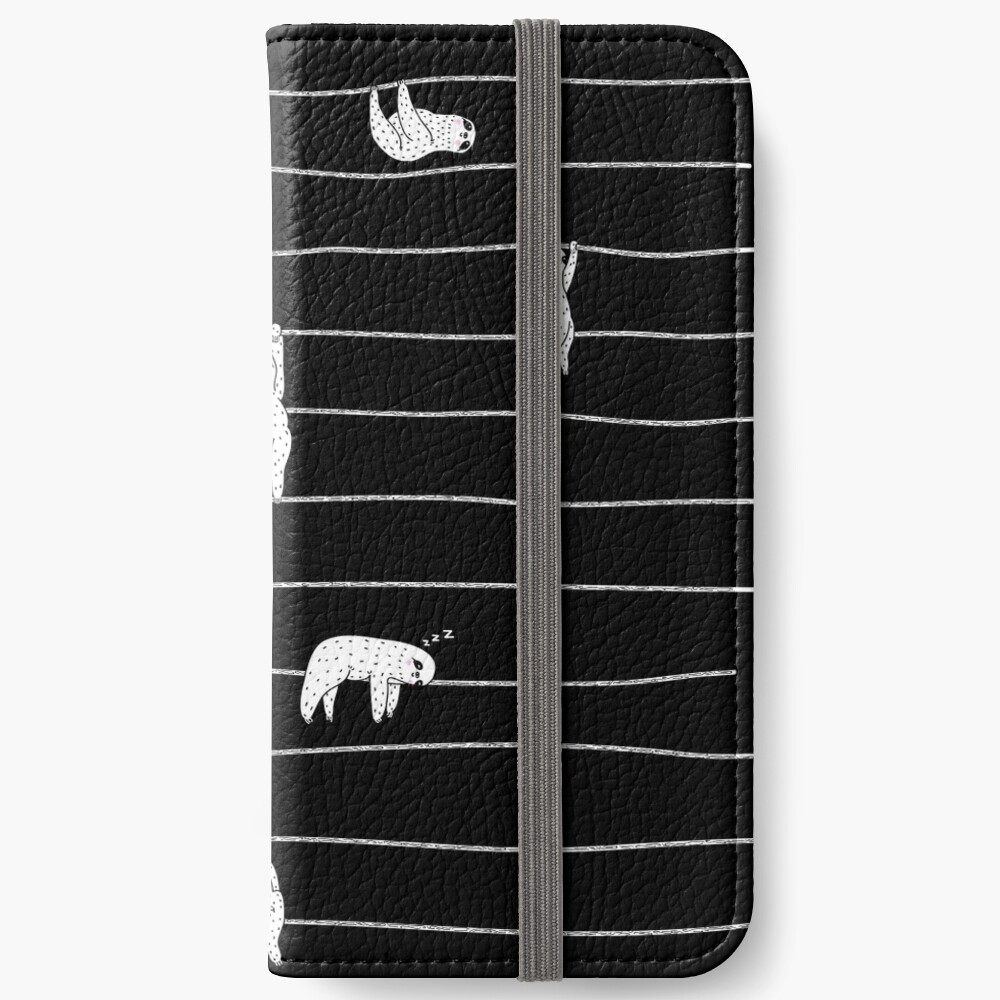 Sloth Stripe iPhone Wallet