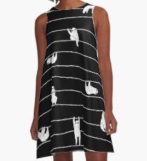 Sloth Stripe A-Line Dress