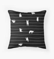 Sloth Stripe Throw Pillow