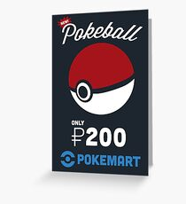 Pokemon Pokeball Pokemart Ad Greeting Card