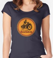 Royal Enfield vintage British Motorcycles Women's Fitted Scoop T-Shirt