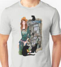 July - Bookshop in Old Amsterdam Unisex T-Shirt