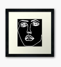 Disclosure Face Framed Print
