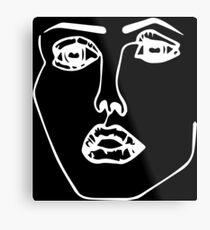 Disclosure Face Metal Print