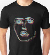 Tri-Colour Disclosure Face Unisex T-Shirt