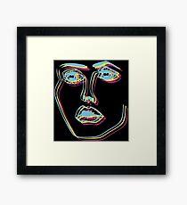 Tri-Colour Disclosure Face Framed Print