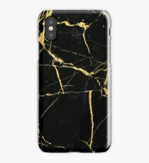 Luxe Black and Gold Marble iPhone Case/Skin