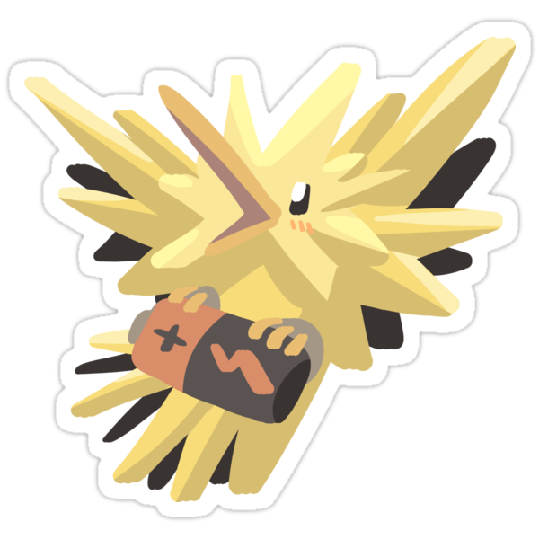 Quot Zapdos Quot Stickers By Acri Redbubble