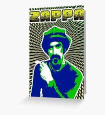Frank Zappa Blacklight Greeting Card