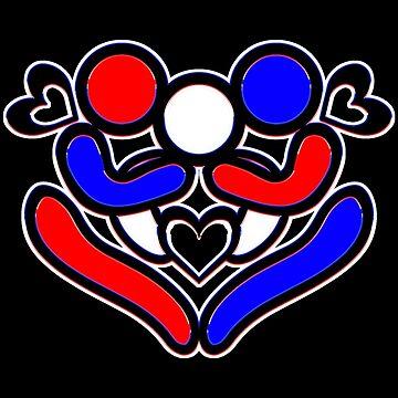 LGTBQ+ & more - polyamory heart hug by DoodlesByAdzie