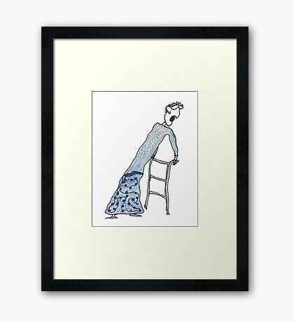 Fragile Frida (one-line #122) Framed Print