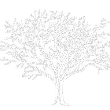 White Tree Cutout by Americ