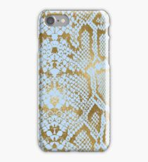 Blue and Gold Snakeskin  iPhone Case/Skin