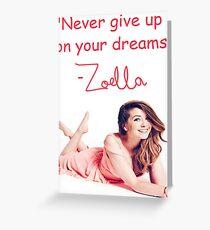 Zoella - DREAMS Greeting Card
