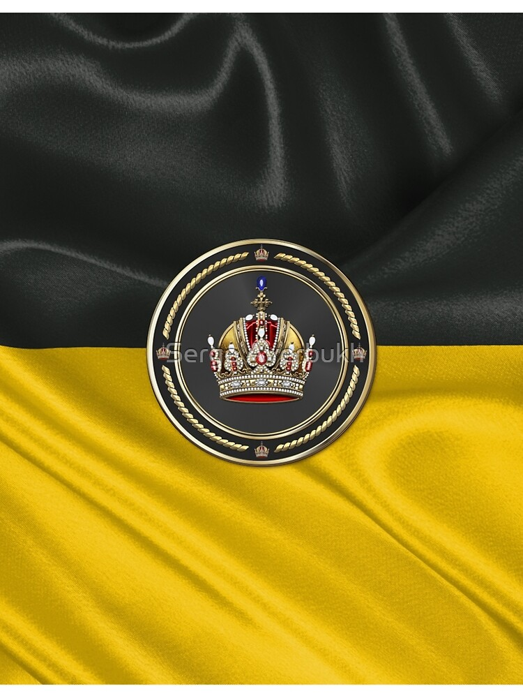 Imperial Crown of Austria over Flag of the Habsburg Monarchy by Captain7