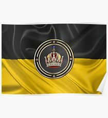 Imperial Crown of Austria over Flag of the Habsburg Monarchy Poster
