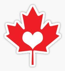 Canadian Heart Sticker
