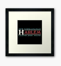 Harlem jazz music Framed Print