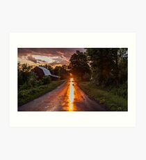 Redreaming Hathaway Road in Gold  Art Print