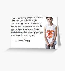 Joe Sugg - WEIRDNESS Greeting Card