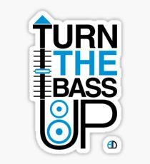TURN THE BASS UP - Crossfader & Speaker DJ, Dark Sticker