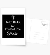 Keep Calm and Protect The Healer Postcards