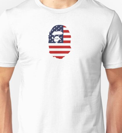 A Bathing Ape BAPE STAR x USA FLAG Unisex T-Shirt