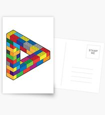 Play with Me: Lego Penrose Toy Triangle Impossible Object Illusion Postcards