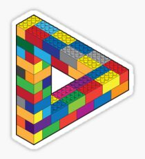 Play with Me: Lego Penrose Toy Triangle Impossible Object Illusion Sticker