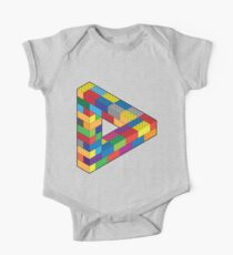 Play with Me: Lego Penrose Toy Triangle Impossible Object Illusion One Piece - Short Sleeve