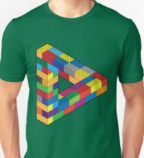 Camiseta unisex Juega conmigo: Lego Penrose Toy Triangle Impossible Object Illusion