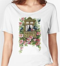 Vintage Birds and Flowers Women's Relaxed Fit T-Shirt
