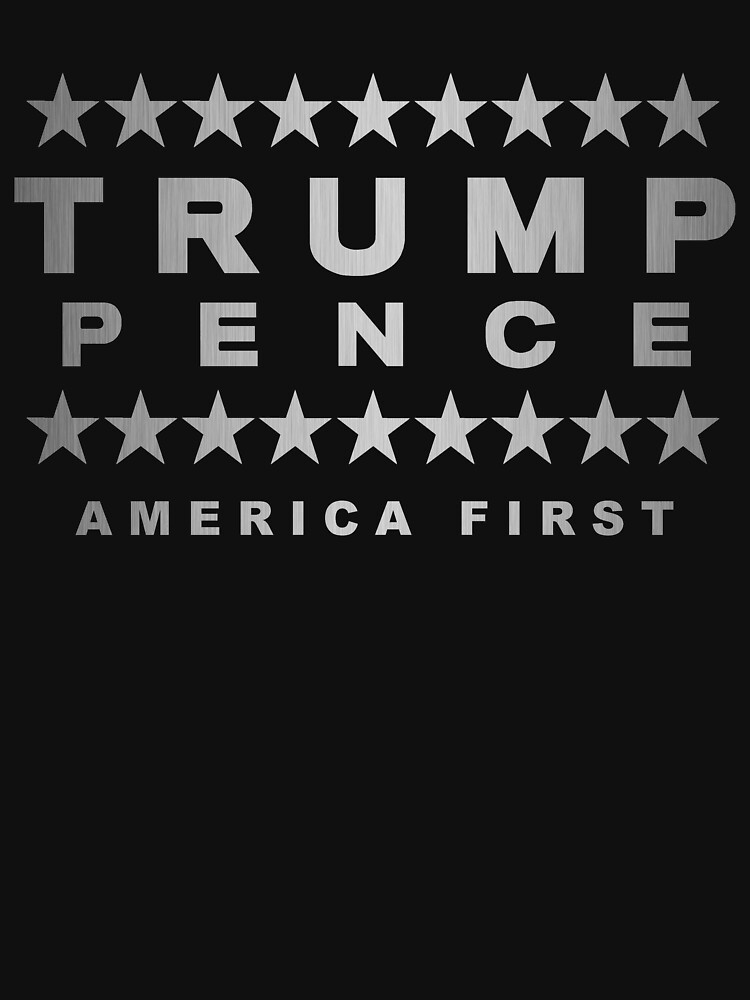 Trump Pence Silver Tone On Black America First by theartofvikki