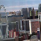 Las Vegas center strip & the High Roller by urbanphotos