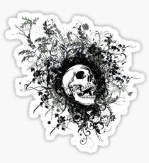 Skull Floral Explosion Sticker