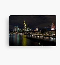 Frankfurter Skyline in the Night  Canvas Print