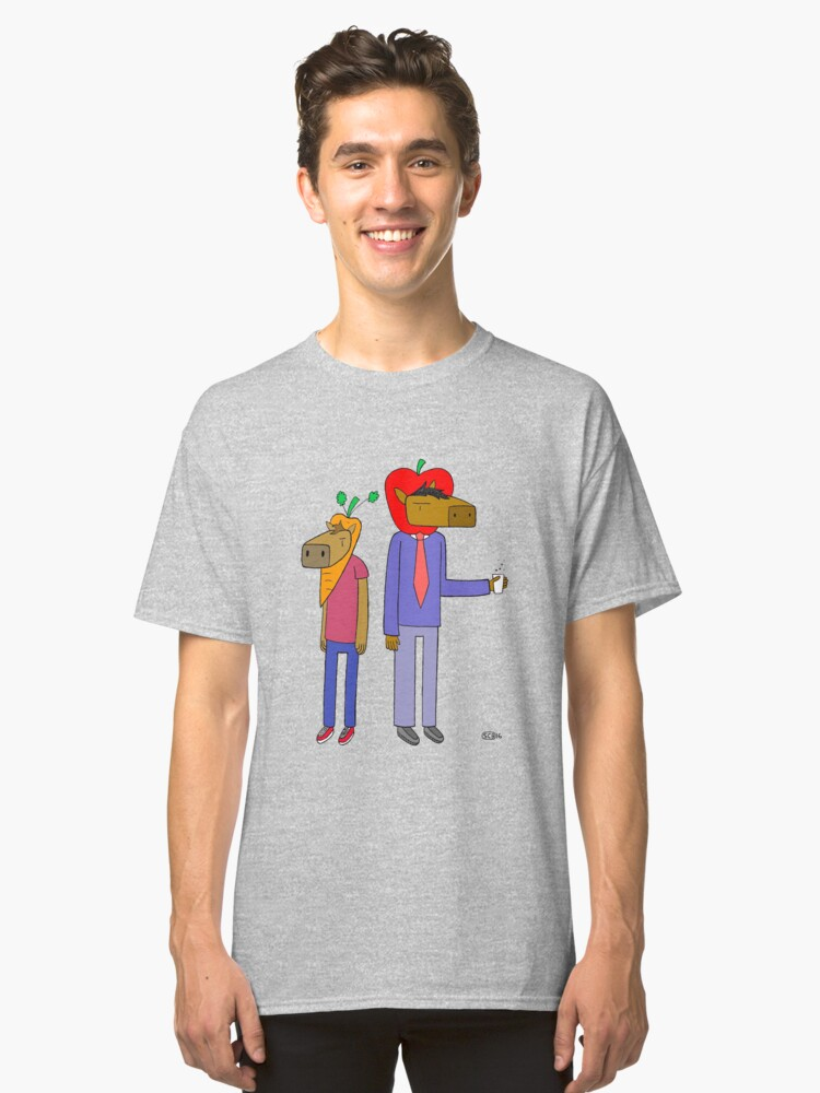 Horseapple & Carrotmule Classic T-Shirt Front