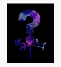 The Mystery Shack Question Mark Weathervane Photographic Print