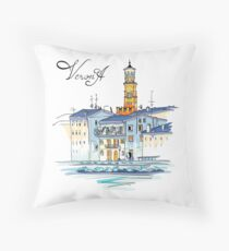 Tower Lamberti in Verona, Italy Throw Pillow