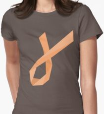 Geometric Womb Cancer Ribbon Womens Fitted T-Shirt