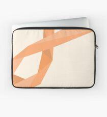 Geometric Womb Cancer Ribbon Laptop Sleeve