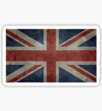 Union Jack Desaturated Grunge (3:5 Version) Sticker