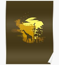 The Last of Us Giraffe Yellow Poster