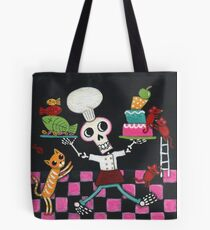 Chef Skelly Tote Bag