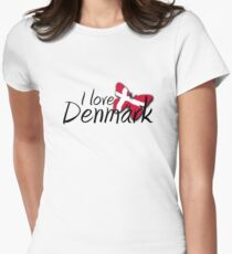 I Love Denmark Women's Fitted T-Shirt