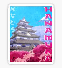 Hanamura Vintage Travel Poster Sticker