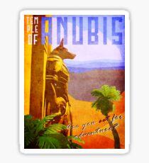 Temple of Anubis Vintage Travel Poster Sticker