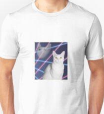 80'S LASER BACKGROUND CAT 2 T-Shirt