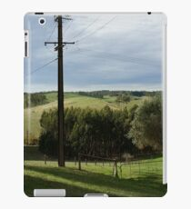 Green landscape with fence iPad Case/Skin